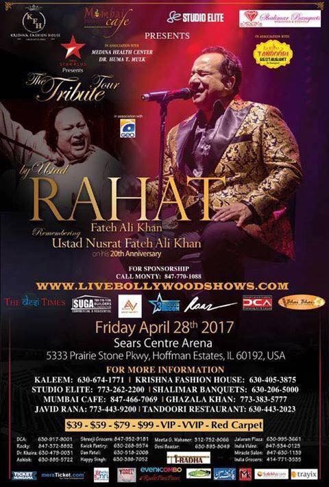 Rahat Fateh Ali Khan April 28th