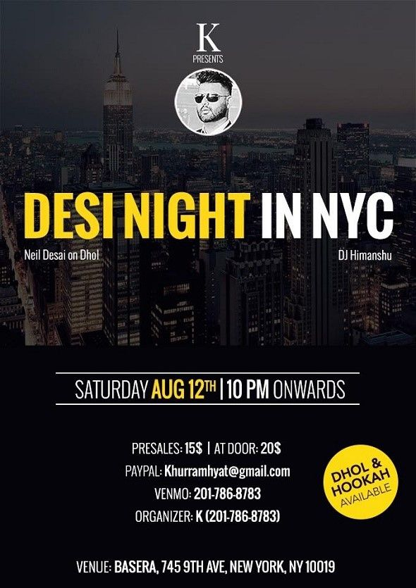 Desi night in NYC-2017-7-26-21-4-28