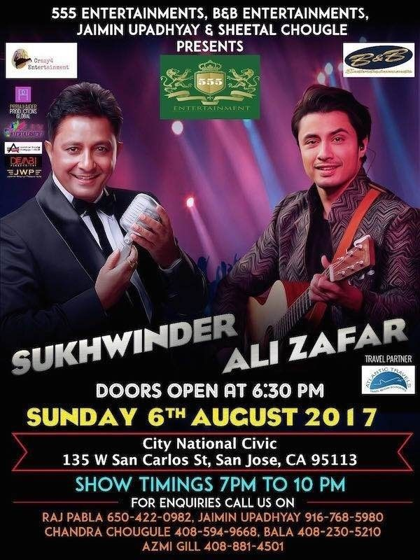 Sukhwinder and Ali Zafar Bay Area-2017-5-24-5-1-28